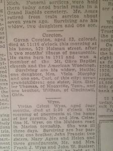 Govan Cureton Obit 3-2-1928