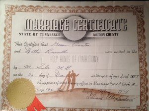 marriage certificate govan cureton