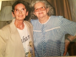 Mom and Essie Goens