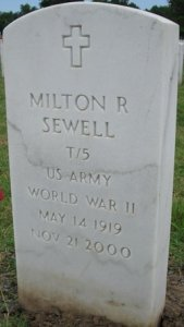 milton r sewell headstone 2000