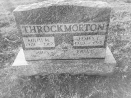 rosa g and james a throckmorton headstone