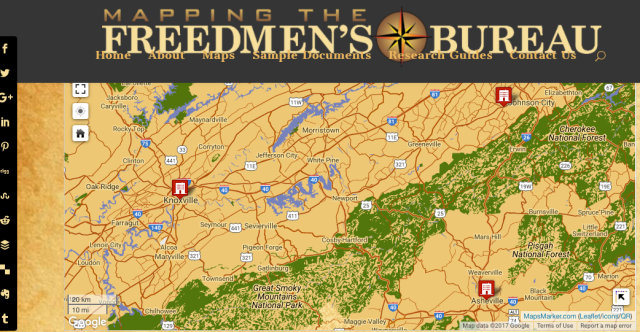 mapping freedmen TN-NC