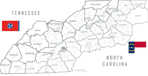 TN NC counties map