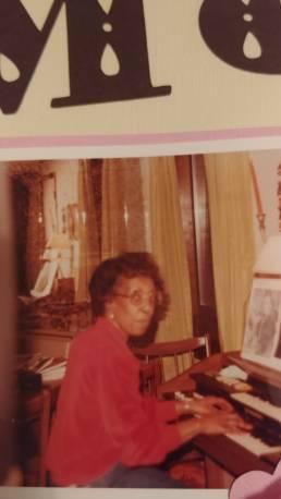 Lillian playing organ