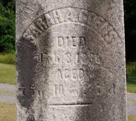 sarah hart goens headstone
